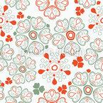 Blumen Des Glücks Nahtloses Vektormuster