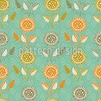 Florecillas De Papel Vector Pattern
