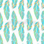 Feder Blätter Nahtloses Vektormuster