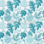 Leaf Baroque In Winter Seamless Pattern
