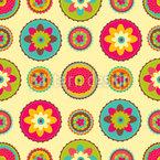 Omis Blumen Deckchen Nahtloses Vektormuster