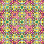 Regenbogen Mosaik Nahtloses Vektormuster