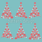 Christmassy Forest Seamless Vector Pattern Design