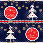 Alpine Christmas Seamless Pattern