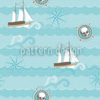 Pirates Aho! Seamless Vector Pattern Design