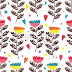In Julias Flower Garden Seamless Pattern