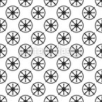 Steering Wheel Seamless Vector Pattern