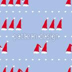Contando Santa Caps Design de padrão vetorial sem costura