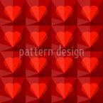 Rubin Herzen Nahtloses Vektormuster