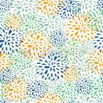 Blumen Feuerwerk Nahtloses Vektormuster