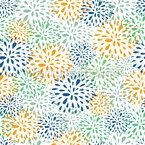 Flower Fireworks Repeat Pattern
