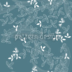 Bushclover Teal Repeat Pattern