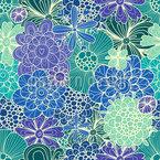 Blumen Für Rusalka Nahtloses Vektormuster