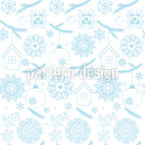 Delicate Christmas Seamless Vector Pattern