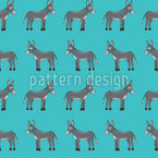 Donkey Smile Seamless Vector Pattern Design