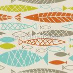 Frische Fische Nahtloses Vektormuster
