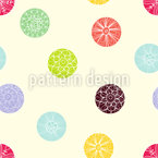 Blooming Dots Estampado Vectorial Sin Costura