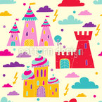 Castles In The Sky Vector Ornament