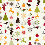 Christmas Joy Seamless Vector Pattern Design