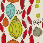 Autumn Vegetables Seamless Vector Pattern Design