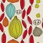Herbstgemüse Nahtloses Vektormuster
