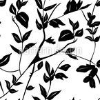 Leaves In The Shadow Seamless Vector Pattern Design