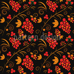 Khokhloma Seamless Vector Pattern Design