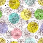 Kritzel Blüten Musterdesign