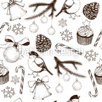 Winter Season Seamless Vector Pattern Design