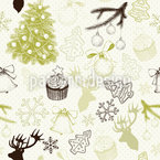 Christmas Bliss Seamless Vector Pattern Design