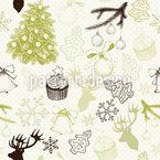 Weihnachtsfreuden Nahtloses Vektormuster