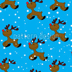 Rudolph Seamless Vector Pattern Design