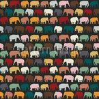 Elephanten Zone Nahtloses Muster