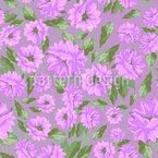 Emilys Blumen Melancholie Nahtloses Vektormuster