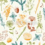 Die Heilkraft Des Gartens Nahtloses Vektormuster