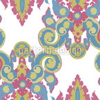 Warhol Boroque Seamless Vector Pattern