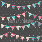 Striped Festoons On Polkadot Pattern Design