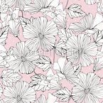 Scrapbook Hibiscus Seamless Vector Pattern Design