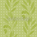 Green Olives Vector Pattern