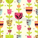 Flower Chains In Summer Vector Ornament