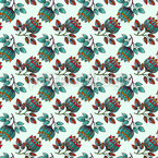 Fantastic Pencil Flowers Repeating Pattern