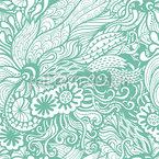 Art Nouveau Des Meeres Nahtloses Vektormuster
