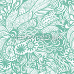 Art Nouveau Of The Ocean Seamless Vector Pattern Design