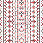Romanian Embroidery Seamless Vector Pattern Design