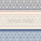 Fronteiras hexágon Design de padrão vetorial sem costura