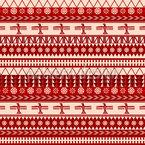 Indianische Weihnacht Nahtloses Vektormuster