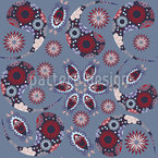 Paisley And Bug Pattern Design