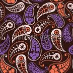 Liebliche Herbst Paisleys Nahtloses Vektormuster