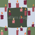 Candle Light On Check Seamless Pattern