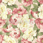 Patina Roses Seamless Vector Pattern Design
